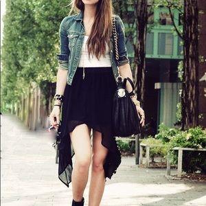 Black High Low Skirt